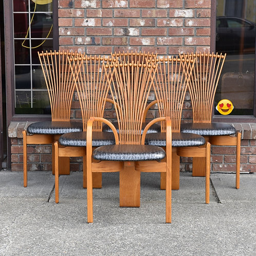 Set of 6 Totem chairs by Tostein Nilsen Westnofa