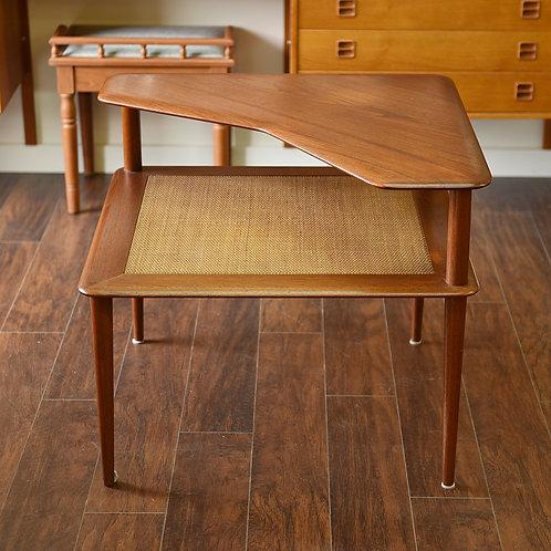 Danish Modern Teak Corner Table