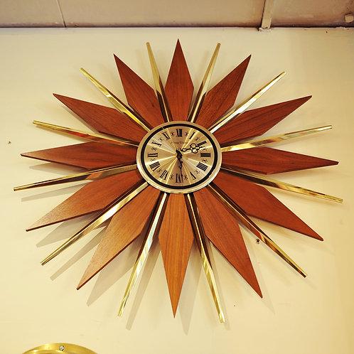MCM Sunburst/Starburst Wall Clock