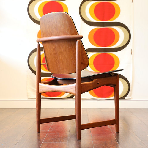 Danish Modern Teak Side Chair by Arne Hovmand Olsen