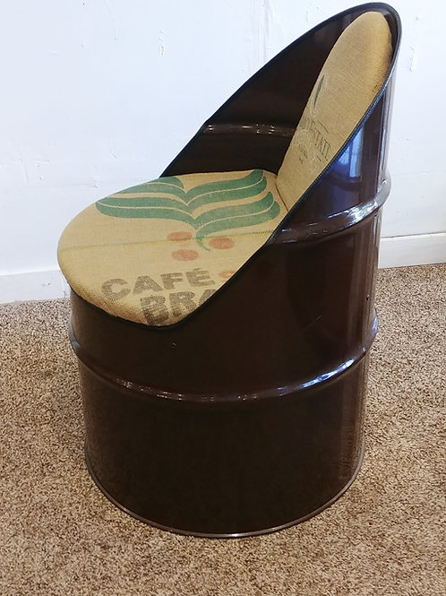 Upcycled Locally Hand Made Drum Barrrel Chair