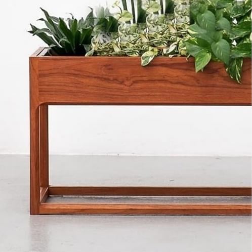 Aksel Kjersgaard planter in teak + original zink liner, Rare