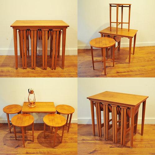 MCM Teak Nesting Tables by Poul Hundevad