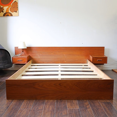 Mid century modern Queen bed frame in teak