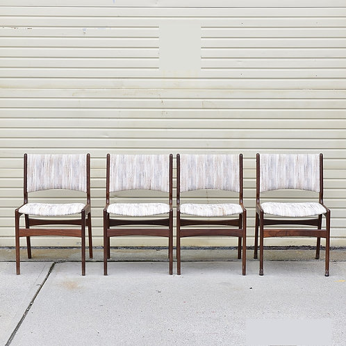 Set of 4 Vintage MCM Model 89 Dining Chairs by Erik Buck