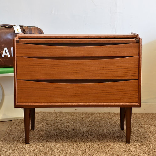 Practical Danish Modern Teak Dresser / Vanity by Ørum Møbelfabrik