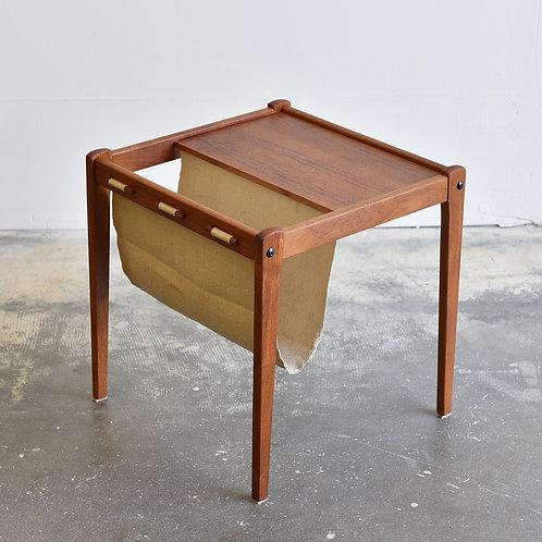 BRDR Danish teak Magazine holder and coffee table
