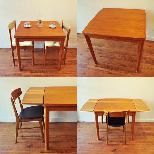 Practical Condo Size Danish Modern Teak Dininig Table
