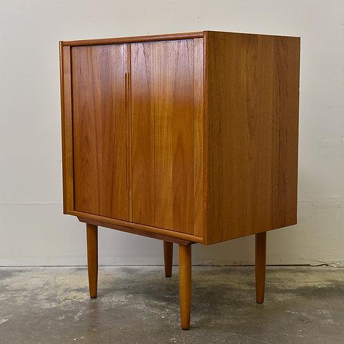 Vintage Tambour Doored Cabinet