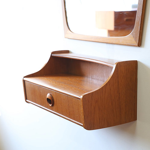 20%OFF, Mid-Century Modern Wall Mount Teak Entry Chest by Talgo Mobler, Norway