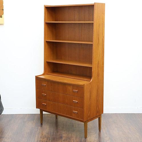 Danish Modern Teak Bookshelf / Secretary Desk