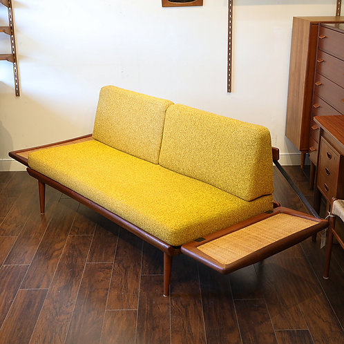 Iconic Danish Teak Daybed Love Seat by Peter Hvidt for France & Son