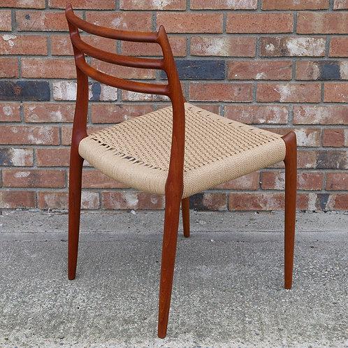 Niels Moller fab Model #78 chair in teak