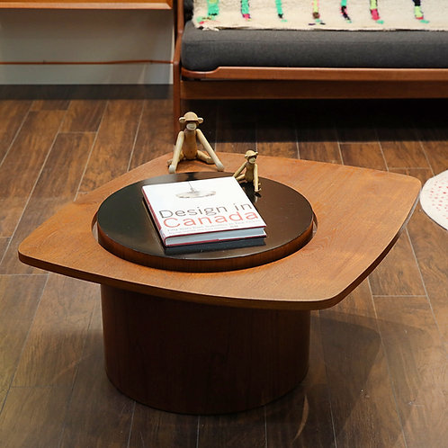 "Vintage Canadian MCM ""Martini"" Medium Size Teak Side Table by R.S. Associates"