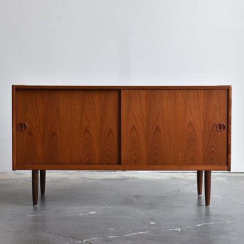 Compact Danish Teak Sideboard by Clausen & Son