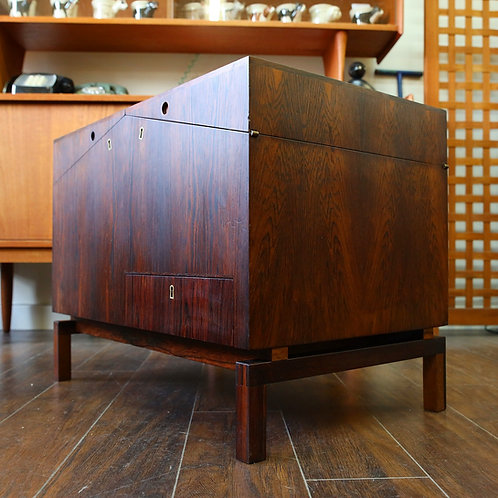 Danish Modern Rosewood Model 284 Bar Cabinet by Leif Alring for C.F. Christensen