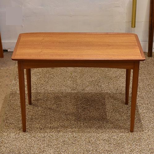 Danish Mid Century Modern Teak Coffee or Side Table by Mobelintarsia