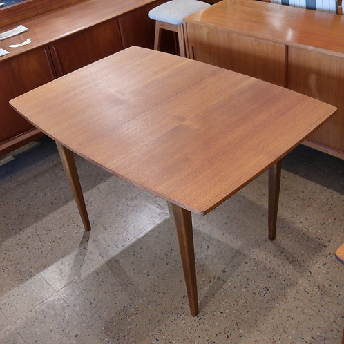 Practical Mid Century Modern Teak Dining Table with a Leaf