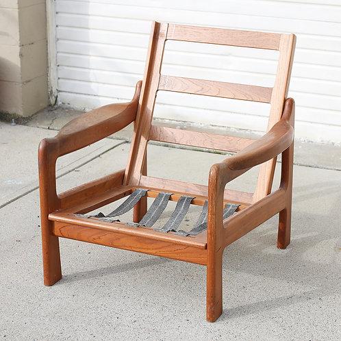 (AS-IS)Vintage Teak Lounge Chair