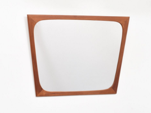 Danish teak mirror, Trapezoid shape