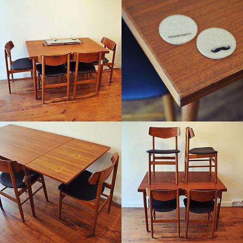 Vintage MCM Teak Dining Table by Farstrup