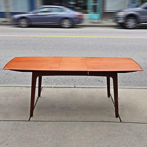 Rare Danish Modern Dining Table with 2 Leaves