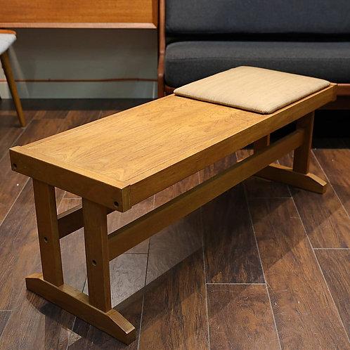 Danish modern teak compact bench