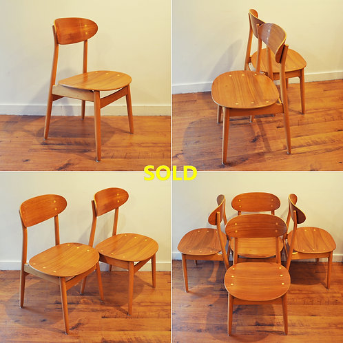 Mid Century Modern Stunning Dining Chairs by Hagafors Sweden
