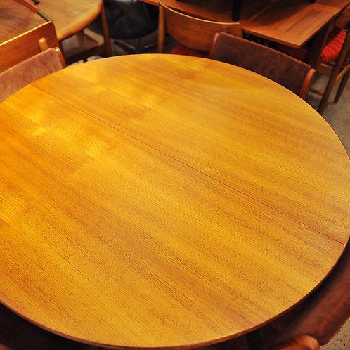 Mid Century Modern Vintage Teak Round Dining Table