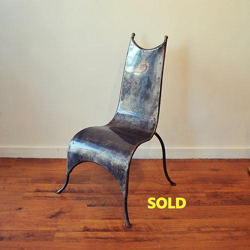 Vtg Metal Accent Chair