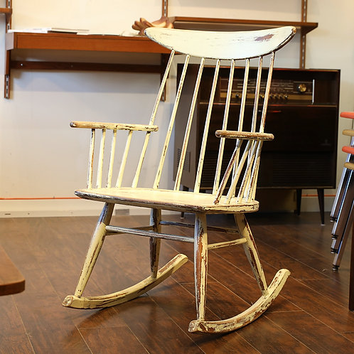 Vintage Spindle Back Rocking Chair by Conant Ball
