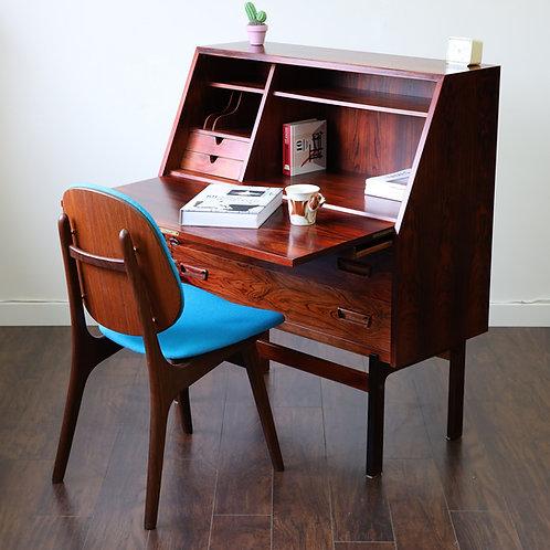 Danish Modern Rosewood Model 68 Secretary Desk by Arne Wahl Iversen