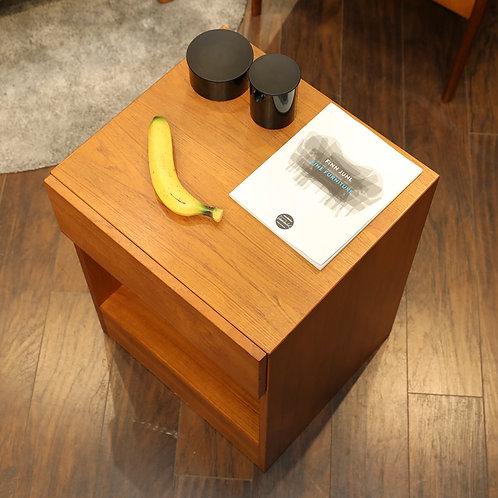 Danish Teak Side Table/Cabinet, Simple Design