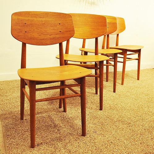 Mid Century Modern Dining Chairs by Torben Strandgaard