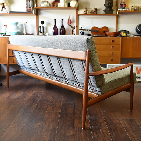 Classic Danish Teak Sofa by Grete Jalk for France and Son