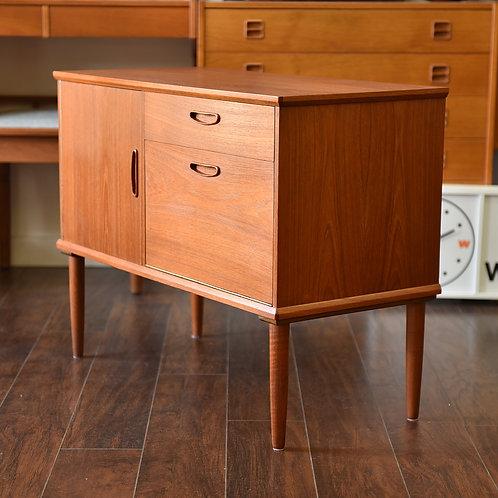 Rare size, Danish teak mini sideboard, Cabinet