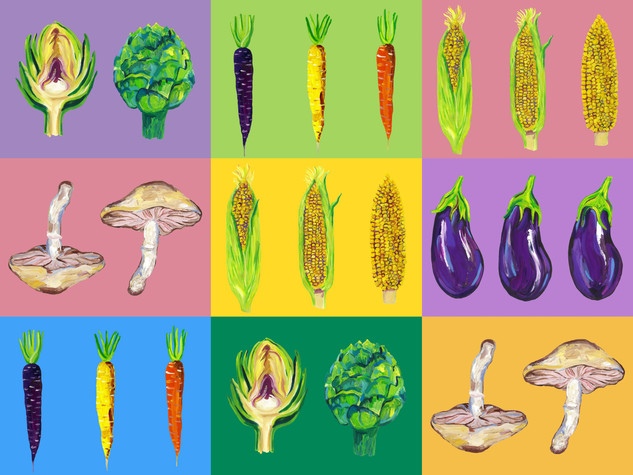 Vegetable Pop Art