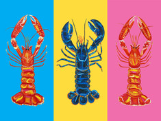 Lobster Pop Art Art Print