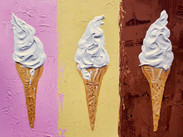 Ice creams on Neapolitan Art Print