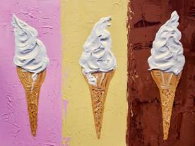 Ice creams on Neapolitan Art Print
