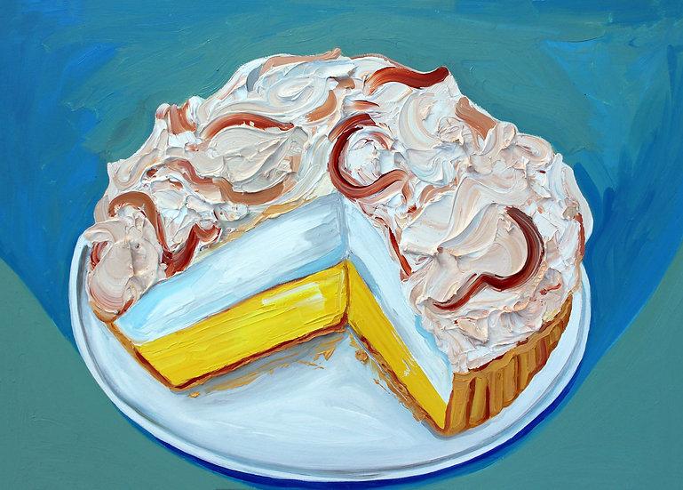 Lemon Meringue Pie Painting