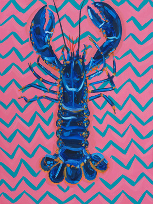 Lobster on Zigzag Art Print