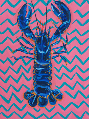 Lobster on Zigzag Art Print