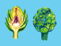 Artichokes on light blue SM 1.jpg