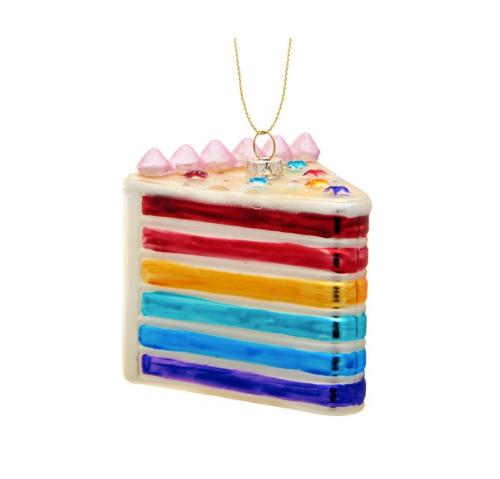 Rainbow Cake Slice Bauble