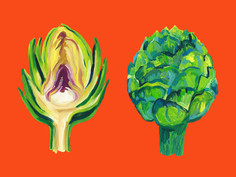 Artichokes on orange SM 1 2 3.jpg