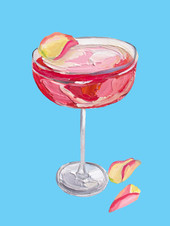 Sparkling Rose Gin Cocktail