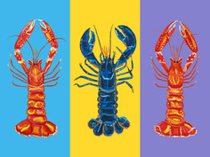 Lobster Love Pop Art Art Print