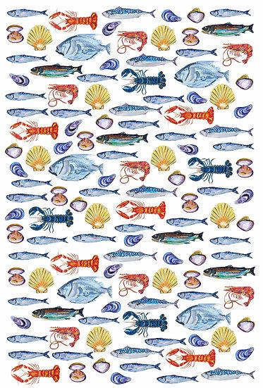 Stunning Fish Tea Towel