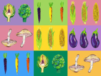 Vegetable Pop Art Art Print